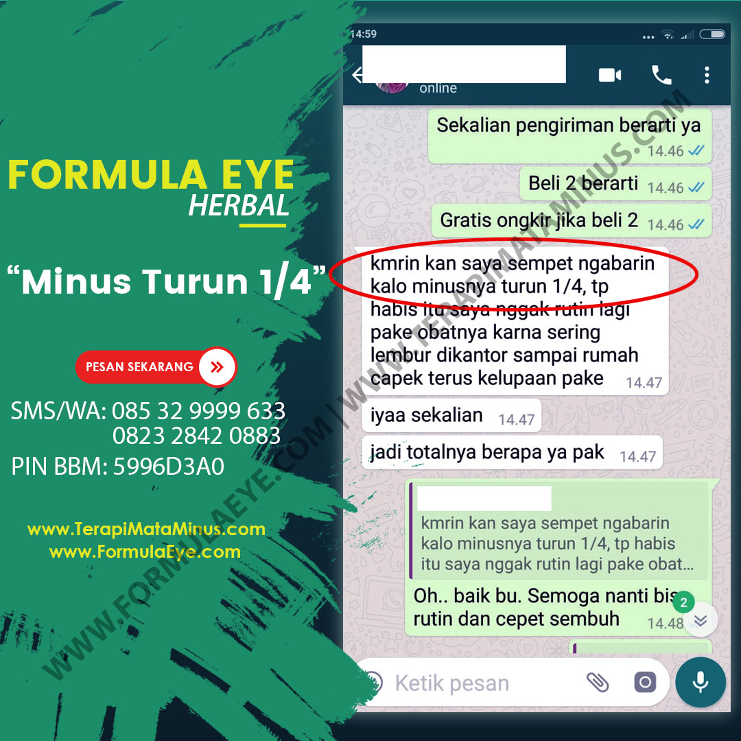 Obat Herbal Mata Minus Plus Katarak Gleaming Eye Usa Paket 100pill Source · testimoni obat mata minus silinder formula eye juli2